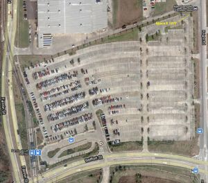 Google view of Fannin South Park and Ride